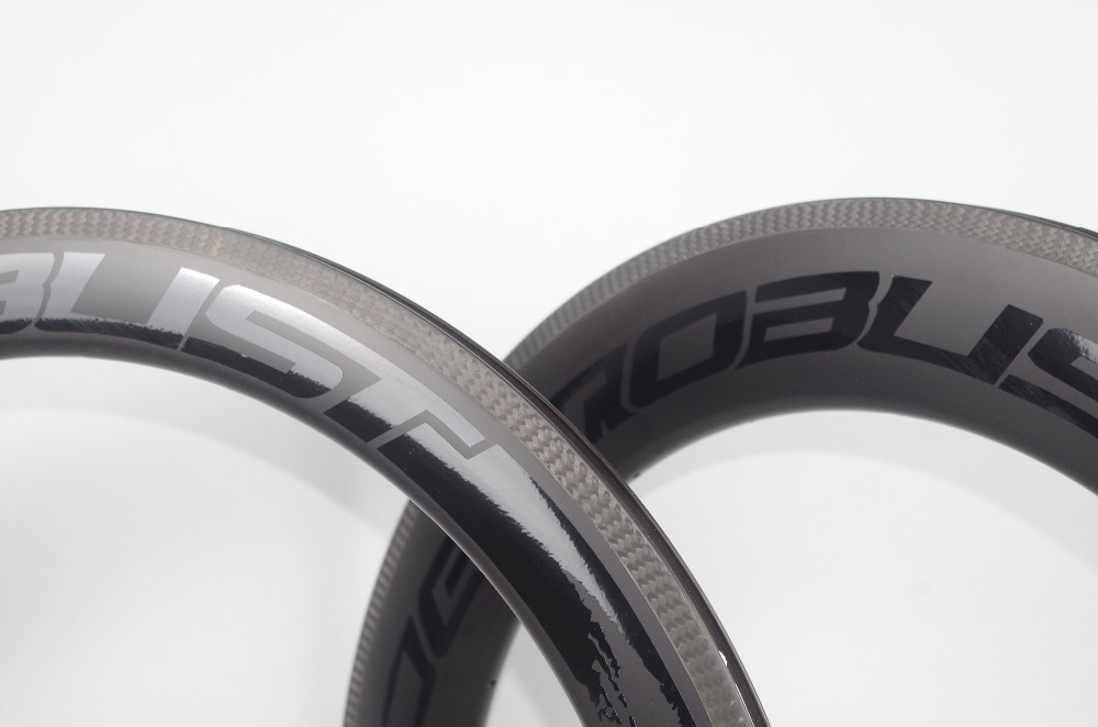700C Combo Front 60mm Rear 88mm Road Tubular Bike Carbon Rims 23mm Wide V Shape Bicycle Wheel Rim