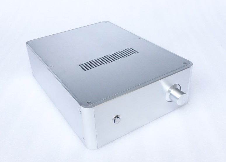 jc229i all aluminum pass chassis power amplifier housing audio amp case preamp enclosure diy pass box BZ2409E Silver All Aluminum Rounded Case Amplifier Chassis Preamplifier Box Power Amp Housing DIY Enclosure