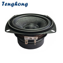 Tenghong 1 шт 4 дюймовый низкочастотный басовый динамик 4/8