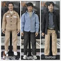 Игрушки и хобби KMF040 KMF041 KMF042 1/6 масштаб тела корейский Super Star/Азиатский мужской головы и одежда вся фигурку полный набор