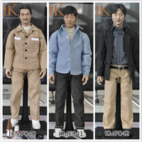 Toys&Hobbies KMF040 KMF041 KMF042 1/6 Scale body Korean Super Star/Asian Male head and clothes Whole Action Figure Complete Set