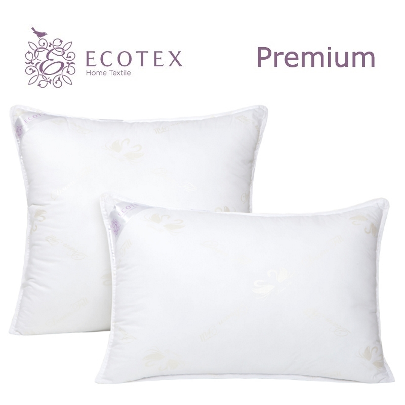 Pillow Swan's down collection Premium. Production company Ecotex(Russia). pillow argo collection premium production company ecotex russia