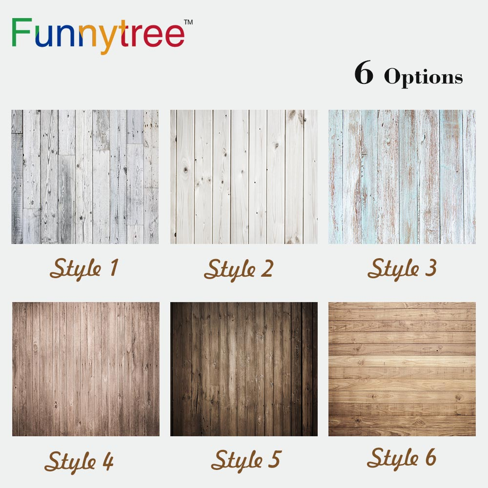 цена на Funnytree small size wood background vintage texture for baby shoot photography studio backdrop photocall prop