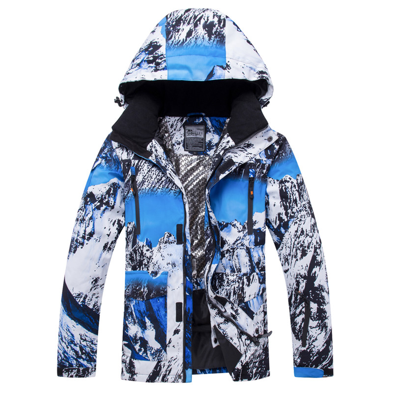 2019 RIVIYELE Brand Men Ski Jacket Snowboard Clothing Super Warm Thicken Windproof Waterproof Winter Coat Hooded Male Skiing New