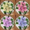 Altra Pietra su Rose Blu Rosa Rosso Viola 3d Antiscivolo In Microfibra Rotonda Tappeti Zona Tappetini Per Soggiorno Cucina camera da letto Bagno