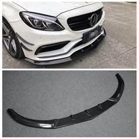 W205 Carbon Fiber PSM style look Front Lip Chin Spoiler for Benz W205 C CLASS C63 2 door coupe Sport Bumper 2015 UP car styling