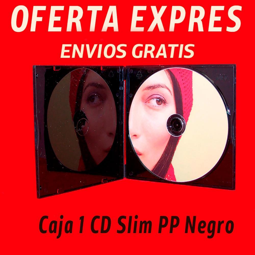 Le CD cas ou boîte CD mince noir Polypropylène (PP) [OFFRE EXPRESS]