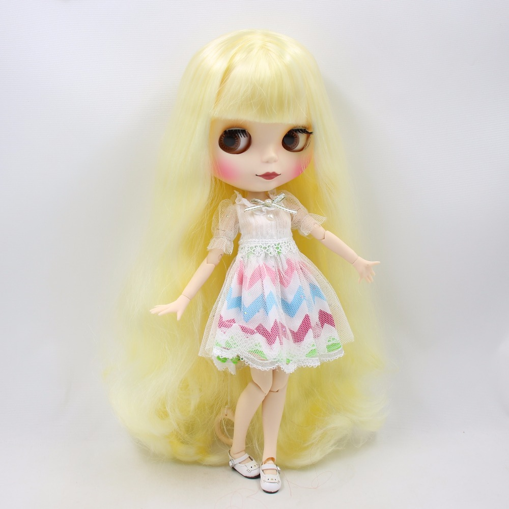 factory blyth doll BL288 Yellow hair Matte Face Joint body white skin 1/6 30cm factory blyth doll custom your doll choose hair face body skin only one doll design your own doll