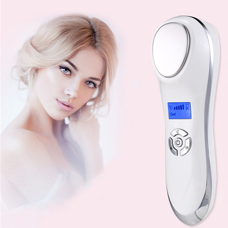 Portable Ultrasonic Hot Cold Therapy Sonic Vibrating Facial Skin Care Essence Ion Introduction Beauty Instrument Face Rejuvena чайник электрический vitek vt 1129 tr