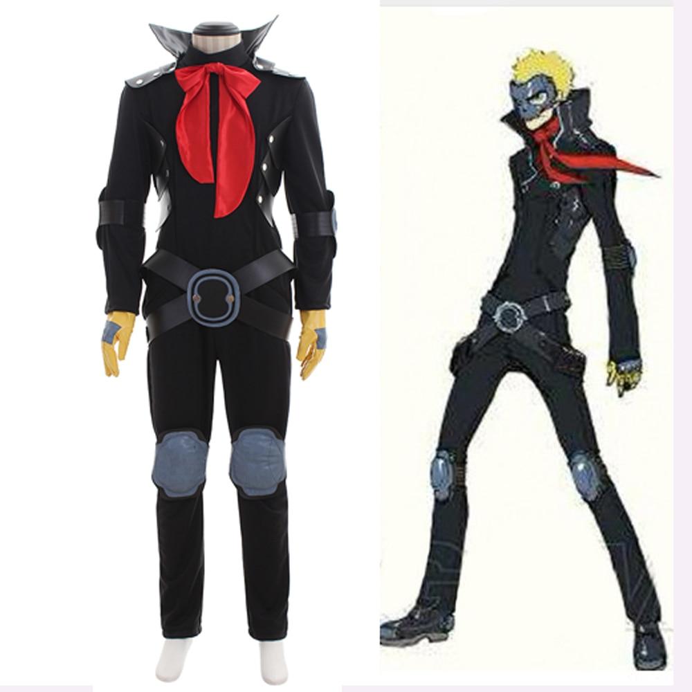 Anime Persona 5 Ryuji Sakamoto Phantom Dief Schedel Cosplay Kostuum Volwassen Mannen Halloween Kostuum Battle Uniform Jumpsuit Outfit