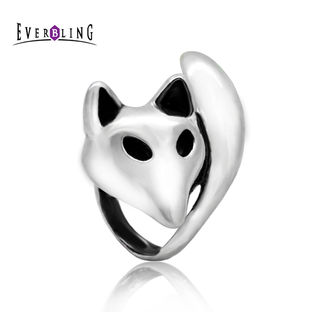 Bling Jewelry Fox Animal Bead Charm .925 Sterling Silver zT8exi