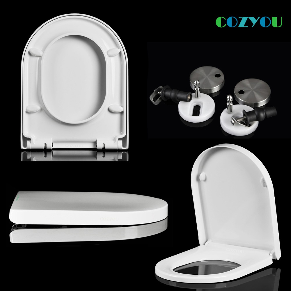 UF Ceramic texture Toilet seat U shape Urea formaldehyde material Slow closed One-click removal COZYOU GBF17253SU