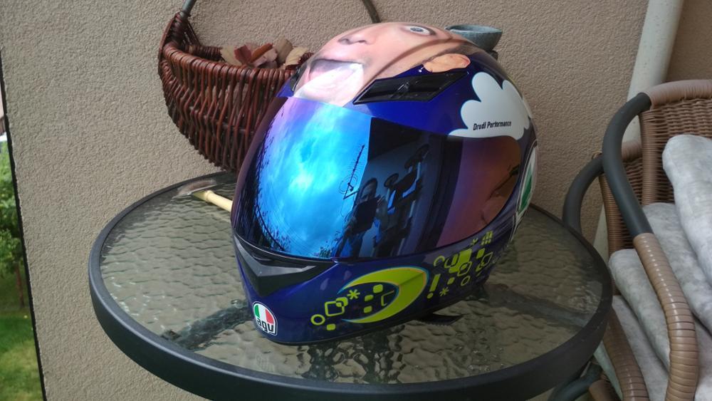 1 Pcs Blue motorcycle helmet visor lens Full Face Shield case for AGV K3 K4  Visor Mask (Not for K3-SV)
