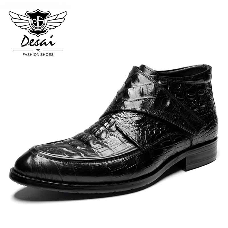 DESAI Autumn and Winter New Arrival Boots Men's Leather Boots Top Layer Genuine Leather Cow Leather England Martin Boots стоимость