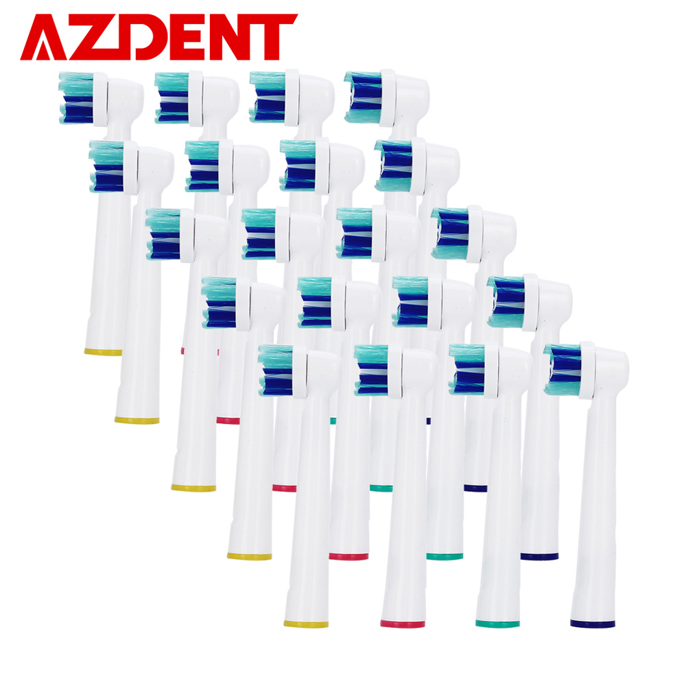 Professional 20pcs Electric Tooth Brush Heads Replacement For AZDENT AZ-2 Pro Electric Toothbrush Soft Bristle Vitality Dual Зубная щётка
