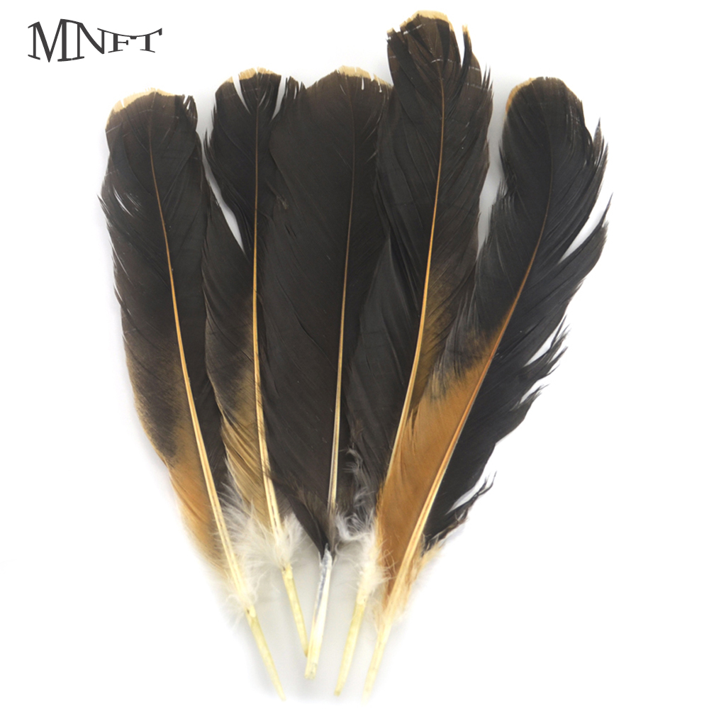 MNFT Bulk 20Pcs/Bag Black & Brown Rooster Feathers Fly Tying DIY ...