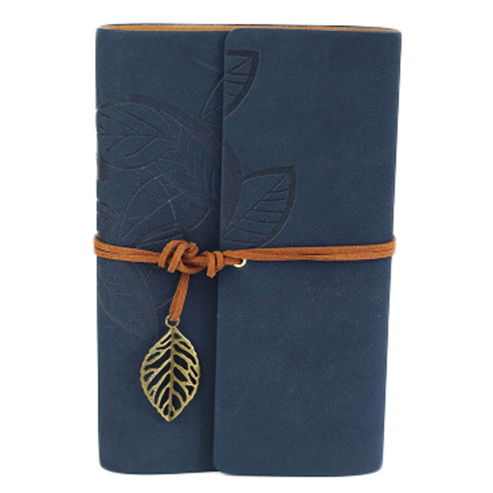 1 Pcs A7 Vintage Leaf Faux Leather Pirate Cover Travel Journal 8 Colors Notebook Stationery Gifts Writing Pockets Book sosw fashion anime theme death note cosplay notebook new school large writing journal 20 5cm 14 5cm