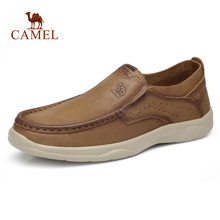 CAMEL Genuine Leather Mens Shoes New Fashion Set Foot Soft Cowhide Lightweight Breathable Casual Shoes Men Loafers