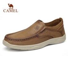 Deve hakiki deri erkek ayakkabıları yeni moda seti ayak yumuşak inek derisi hafif nefes alan günlük ayakkabılar erkek mokasen ayakkabıları