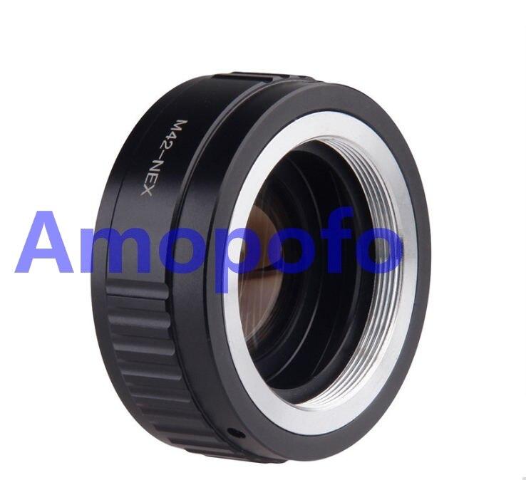 Amopofo M42-NEX adaptateur de vitesse réducteur de focale M42 lentille de montage d'objectif à vis pour Sony NEX A5100 A6000 A5000 A3000 NEX-5T