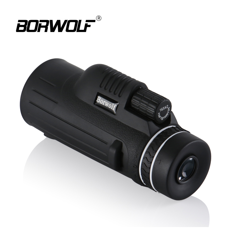 Borwolf Portable Hunting 16X42 Waterproof BAK4 Light Night Vision HD Non-slip Zoom Monocular Binoculars High Power telescope 2018 new borwolf 8x36 binoculars high magnification hd professional zoom high clear telescope military night vision