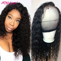 13x4 Lace Front Human Hair Wigs Water Wave Lace Front Wig For Women Brazilian Lace Wig With Baby Hair Remy Mslynn Wig PrePlucked