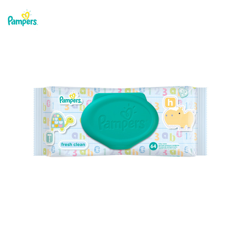 Baby wipes Pampers  Baby Fresh Clean, 64 pc