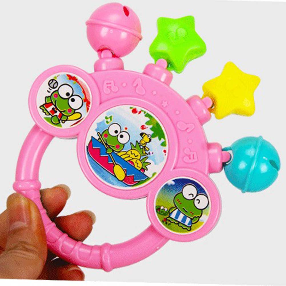 2017 Baby Lovely Cute Rattles Hand Bell Toy Cartoon Colorful Develop Baby Intelligence Grasping toy Gift For Baby 0-12 Months