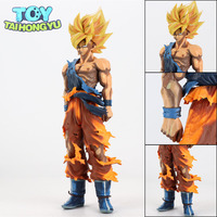 34cm Manga Version MSP Dragon Ball Z Super Saiyan Son Goku Gokou PVC Action Figure Toys Gift