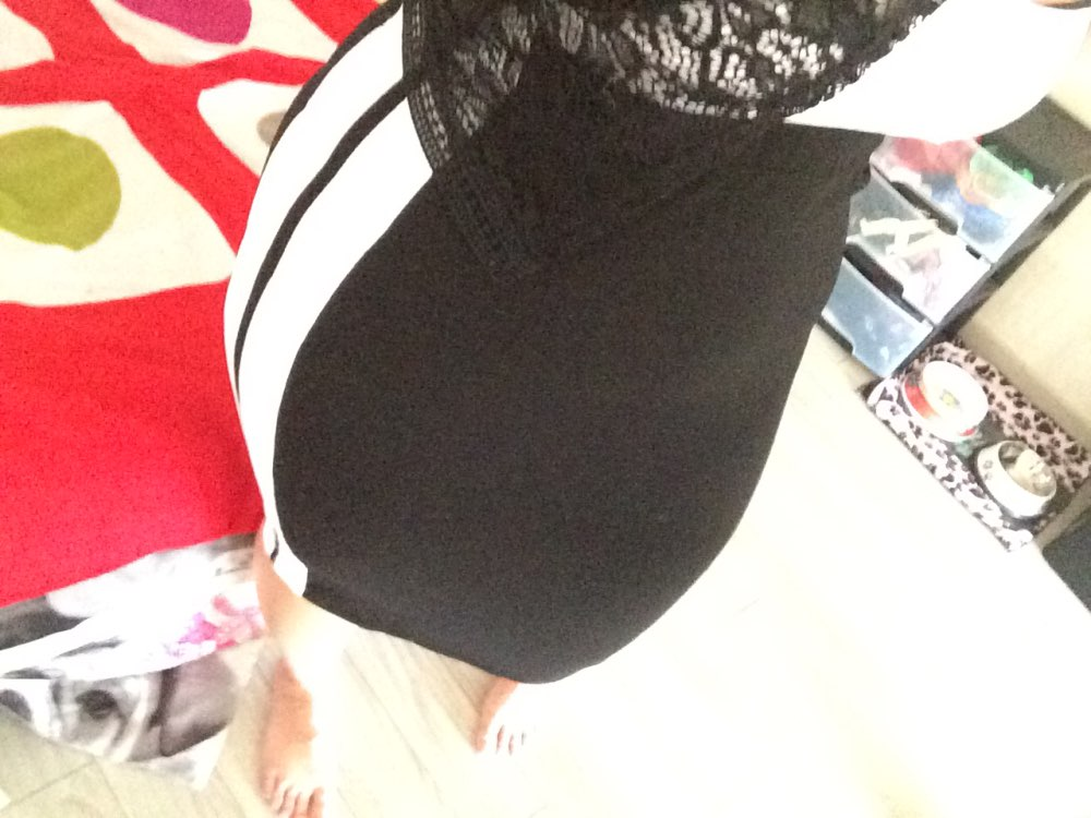 SweatyRocks Contrast Panel Slim Skirt 2018 Summer Knee Length Sheath Athleisure Skirts Women High Waist Striped Sporting Skirts