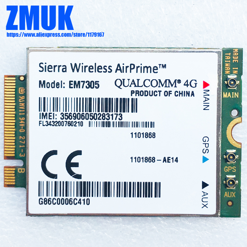 Sierra Wireless EM7305 4G M 2 NGFF 100M LTE WWAN Card