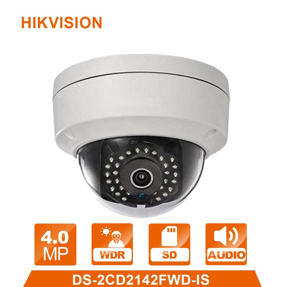 D'origine DS-2CD2142FWD-IS Anglais version 4MP Remplacer DS-2CD2132-I CCTV caméra IP Caméra WDR Caméra Réseau à Dôme Fixe