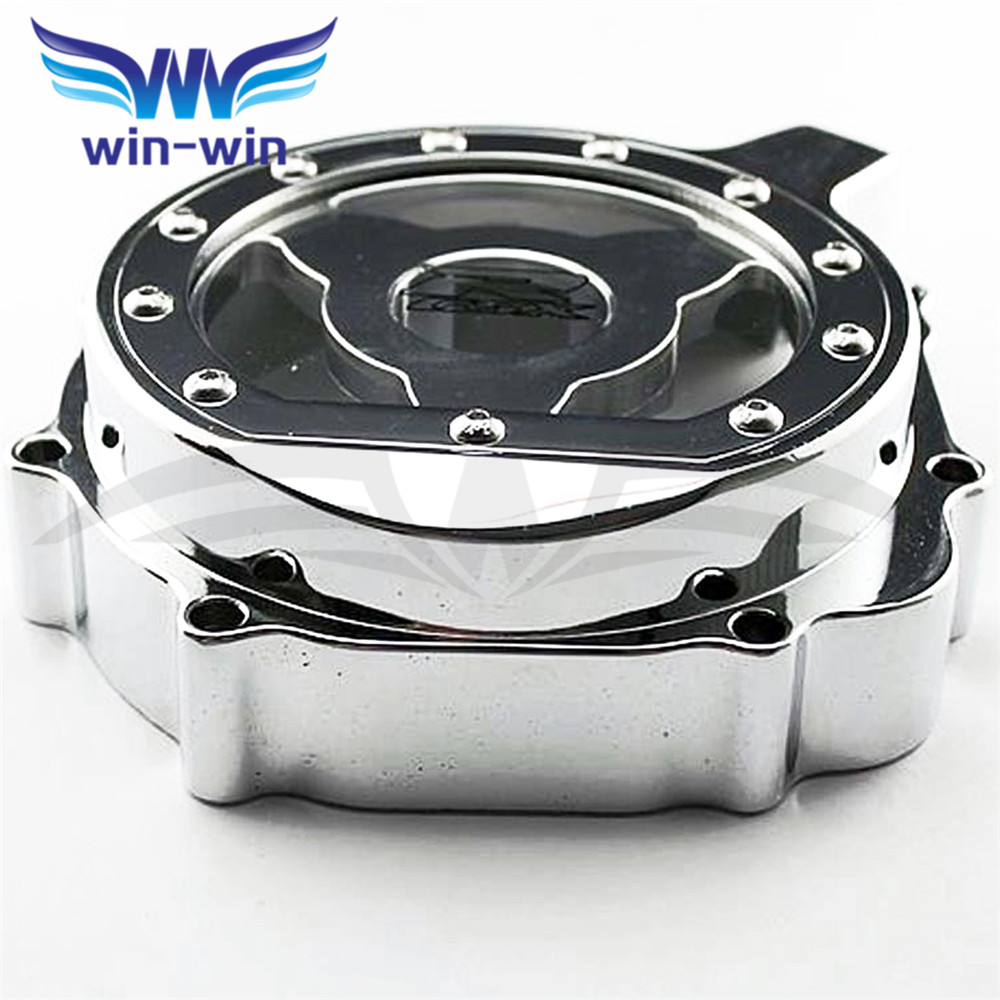 high quality     motorcycle  engine stator cover Chrome  crank case cover For SUZUKI GSXR1000 K5 K7 2005 2006 2007 2008 for motorcycle suzuki 2004 gsxr600 750 1000 engine stator cover see through chrome left