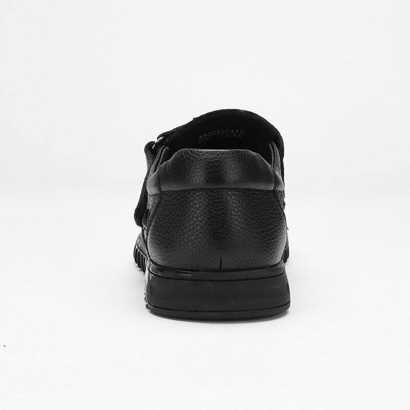 CAMEL męskie sandały letnie Hollow męskie buty ze skóry naturalnej oddychające lekkie w średnim wieku biznes antypoślizgowe buty w stylu casual w Sandały męskie od Buty na  Grupa 2