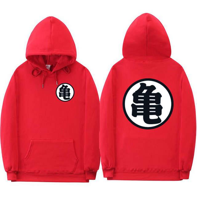 8bd6cb42 Dragon Ball Mens Hoodies Fashion print turtle dragon ball hoodie Sweatshirts  Casual off white belt Men