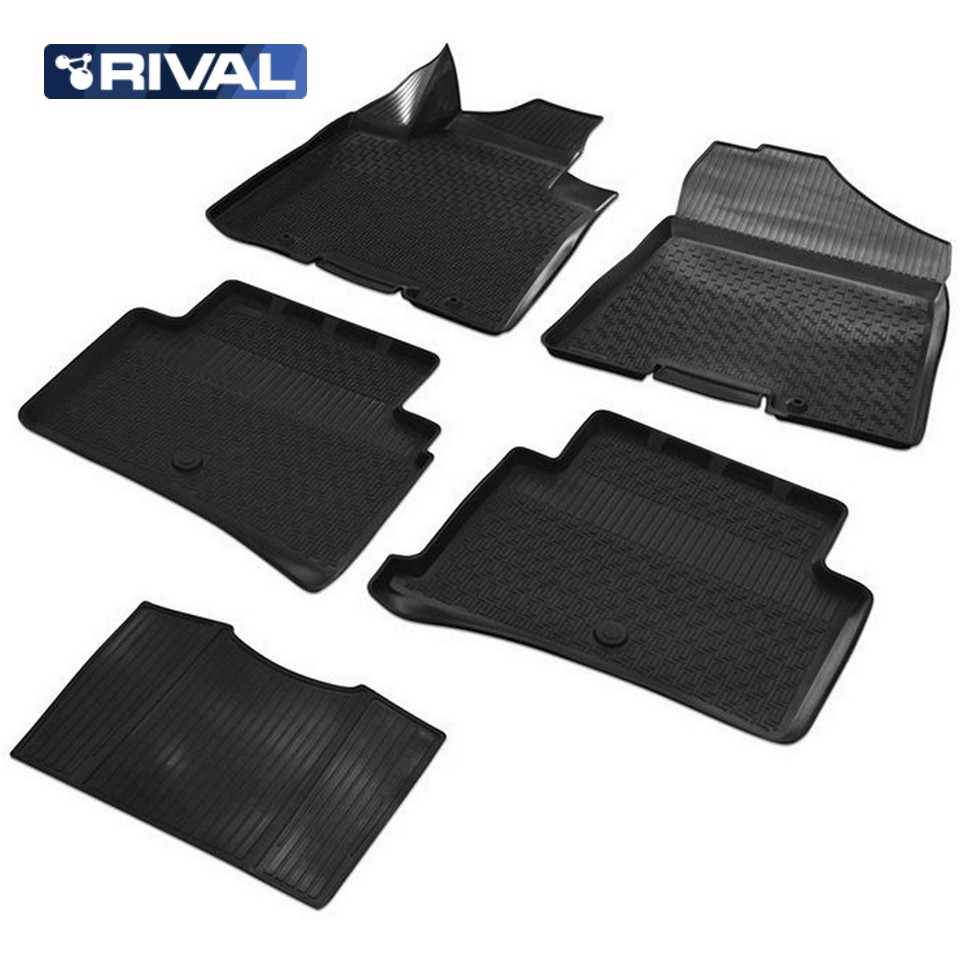 For Hyundai Tucson III 2015-2019 3D floor mats into saloon 5 pcs/set Rival 12309001 full set cables for digiprog iii odometer programmer
