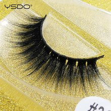 лучшая цена YSDO false eyelashes long natural hair long 1 pair 3d mink lashes 3d mink fake lash wispy lashes dramatic fluffy mink eyelashes