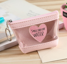 Womens Zipper Small Transparent Coin Kids Cute Wallet Purse Mini Money Bag Women Handbag Purses