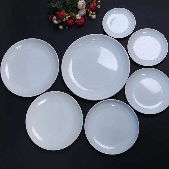 Restaurant Kitchen Accessories aliexpress : buy round melamine plates dishes kitchen