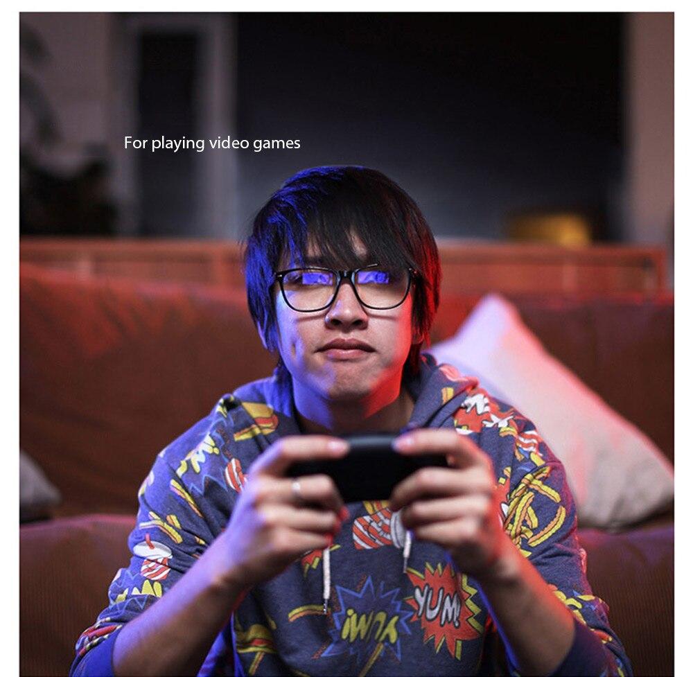 Xiaomi Mijia Qukan W1 ROIDMI B1 détachable Anti-rayons bleus protecteur des yeux en verre pour homme femme jouer au téléphone/ordinateur/jeux - 4