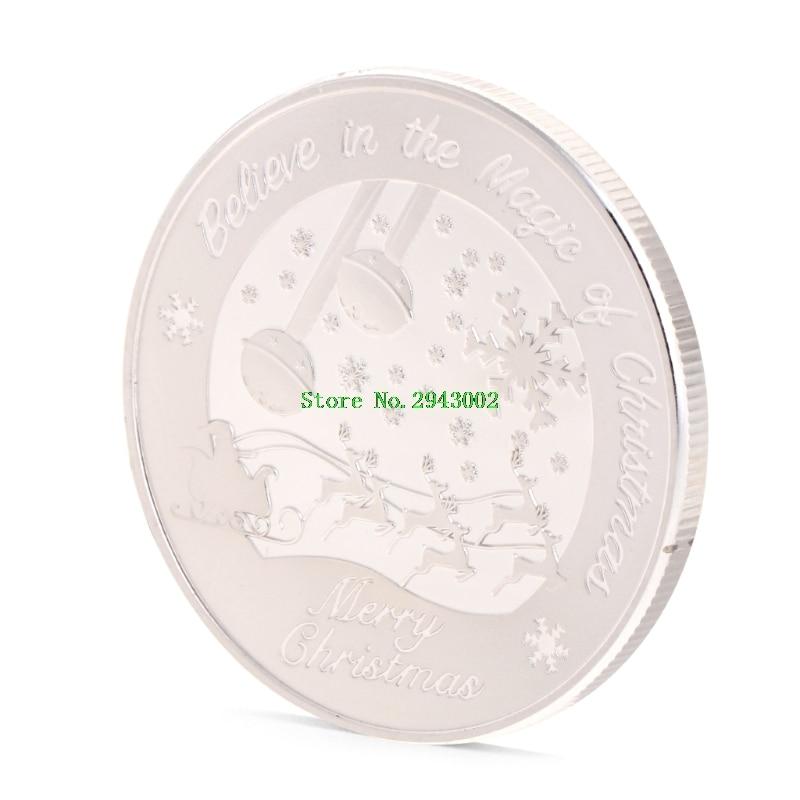 Merry Christmas Santa Claus Commemorative Challenge Coin