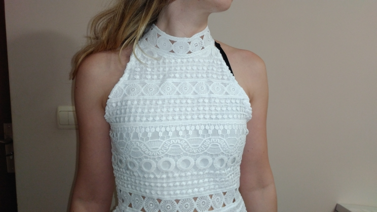 Autumn New Vintage Hollow Out Lace Dress Women Elegant Sleeveless White Dress Summer Chic Party Sexy Dress Vestidos Robe photo review