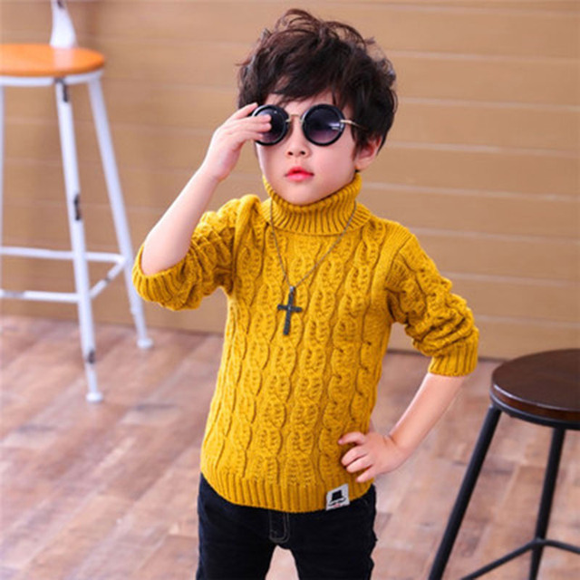 Autumn And Winter Childrens High Necked Sweater Sweater Boys And Girls Sweater Childrens Clothing Base