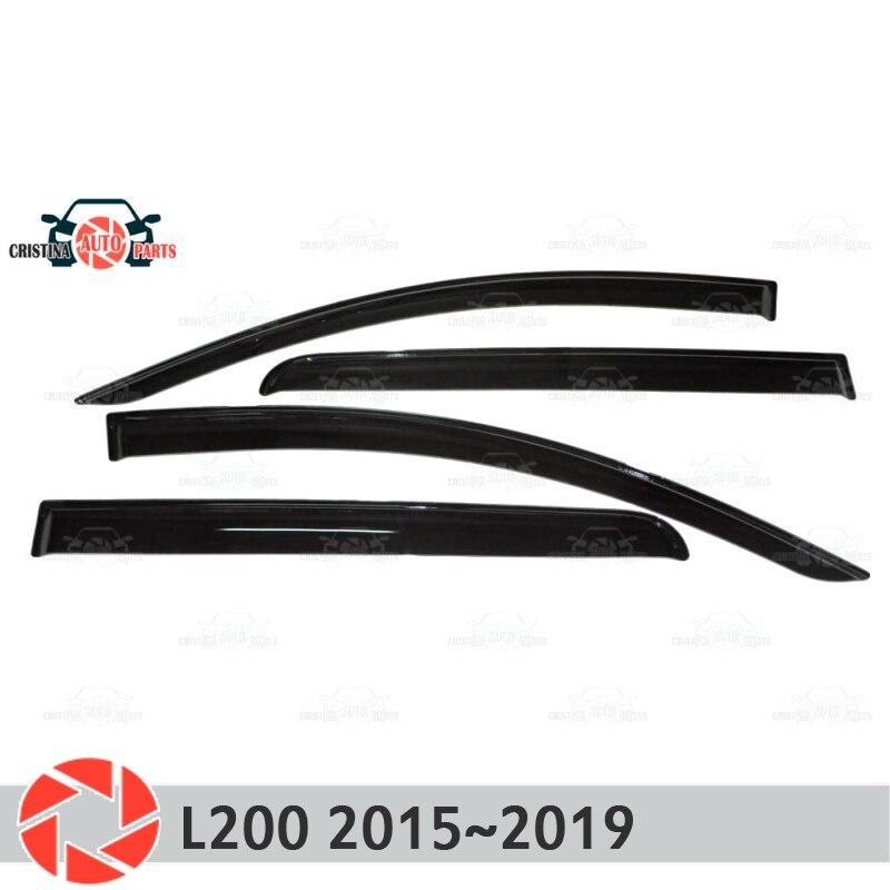 Déflecteur de fenêtre pour Mitsubishi L200 2015 ~ 2019 déflecteur de pluie protection contre la saleté accessoires de décoration de voiture moulage