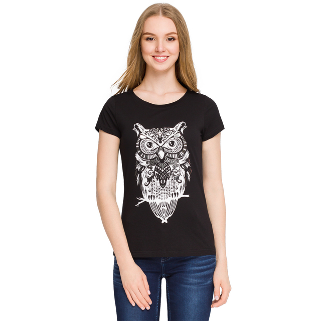 Gloria Jeans Женская футболка с анималистичесим принтом GKT001102