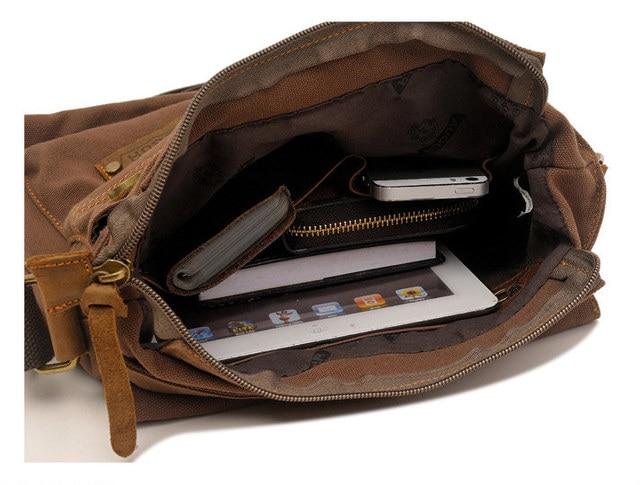 Men's messenger bag men Designer Handbag Canvas Casual Messenger Bag Students school bags 5