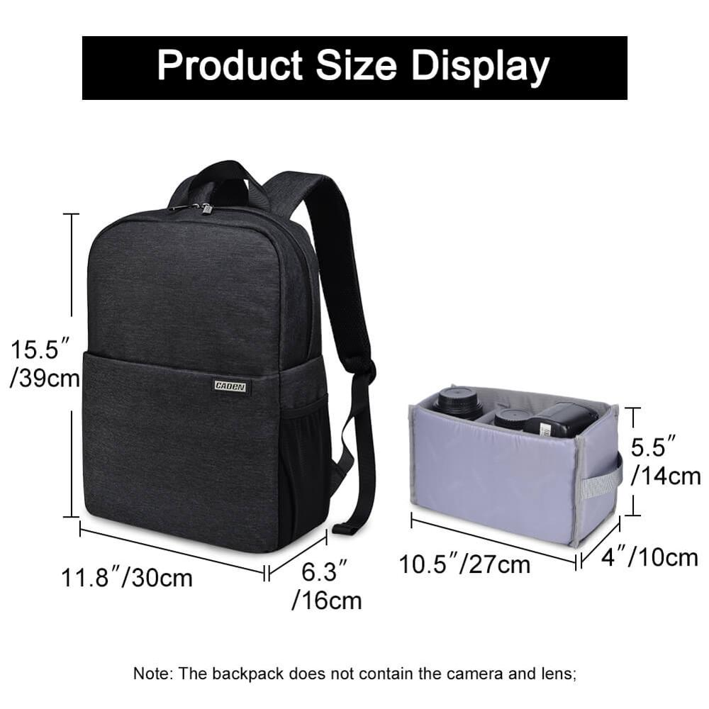 Image 3 - CADeN L4 dslr camera bag waterproof backpack shoulder Laptop digital camera & lens photograph luggage bags case for Canon Nikon-in Camera/Video Bags from Consumer Electronics