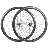 carbon Disc brake Road cyclocross 38mm deep clincher tubeless wheels 45mm 50mm carbon fiber road bike wheel disc rims