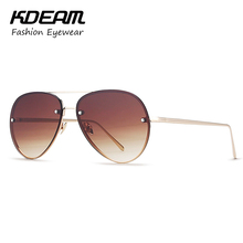KDEAM Metal Brand Women Sunglasses Men Party Aviator Sun Glasses Vintage Outdoor Mirror Colors UV400 With Hard Case KD136