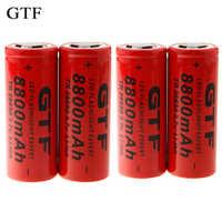 GTF 4 pz 26650 Batteria 3.7 v 8800 mah Batteria Ricaricabile Li-Ion Utilizzo per la Torcia Elettrica ricaricabile Batteria